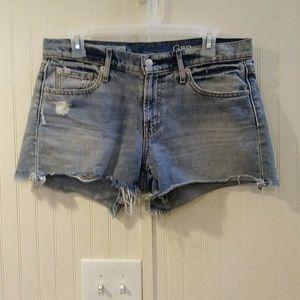 Gap distressed best girlfriend jean shorts